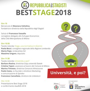stage lavoro best stage 2018